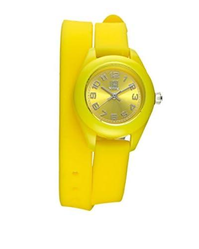 Light Time Reloj Silicona Amarillo