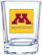 College Square Shot Glass - Minnesota Golden Gophers by Siskiyo Gifts