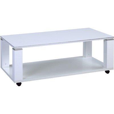HomeTrends4You 233150 Couchtisch, 106 x 42 x 60 cm, weiß Hochglanz