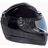 Fuel Helmets SH-FF0016 Full Face Helmet, Gloss Black, Large