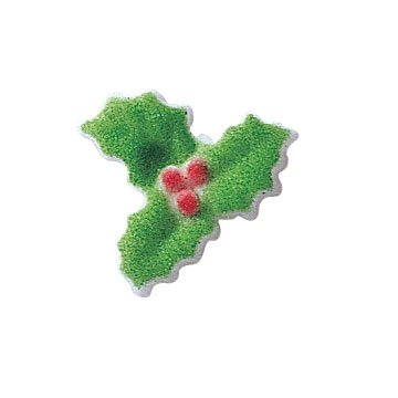 Christmas Holly Sugar Decorations Winter Holiday Cookie Cupcake Cake 12 Count