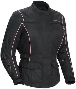 Tourmaster MOTIVE MOTORCYCLE JACKET BK/PK WOMENS SIZE:XSM