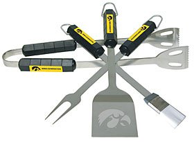 Iowa Hawkeyes NCAA BBQ Grill Utensil Set