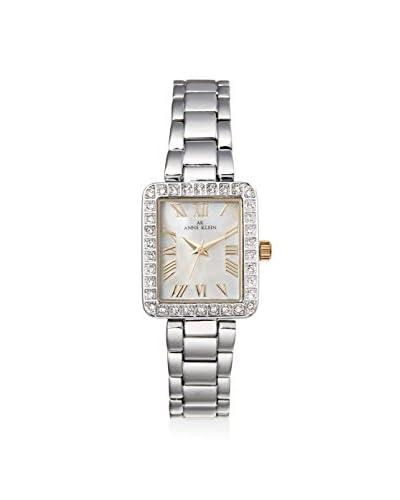 Anne Klein Women's Swaroski Steel Watch, Silver/White