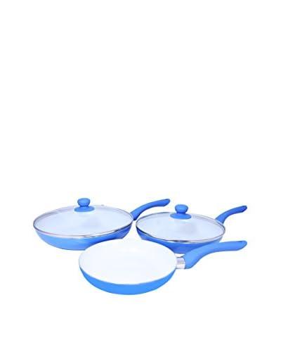 Ceramic Sartenes Cerámicas Azules + 2 Tapas