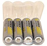 Hitech - 4 AA Ni-Mh 2500mAh Rechargeable Batteries for Kids' Toys & Electronic Learning System (FREE Battery Case). $11.99