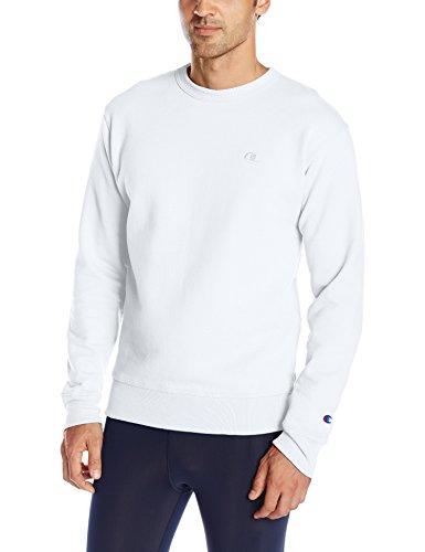 Champion Men's Powerblend Pullover Sweatshirt, White, Small