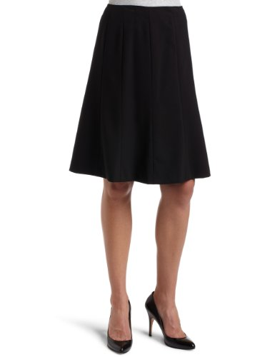 Calvin Klein Women&#8217;s Gored Skirt,Black,14