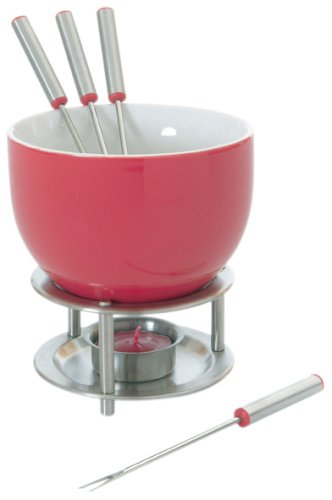 Mastrad Chocolate Fondue Set, Red