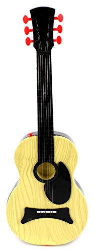 Classic-Kids-Battery-Operated-Toy-Guitar-w-Shoulder-Strap-Steel-Strings-Plays-15-Pre-Recorded-Songs