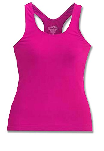 Ulitmate Racerback Tank Lipstick Pink Youth Large front-737075