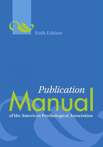 Publication Manual of the American Psychological Association...