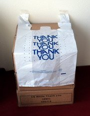 "600 12""x7""x22"" Large Retail Thank You T-Shirt Bags"