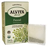 Alvita Teas Organic Herbal Tea Fennel Seed, Fennel Seed 24 BAGS