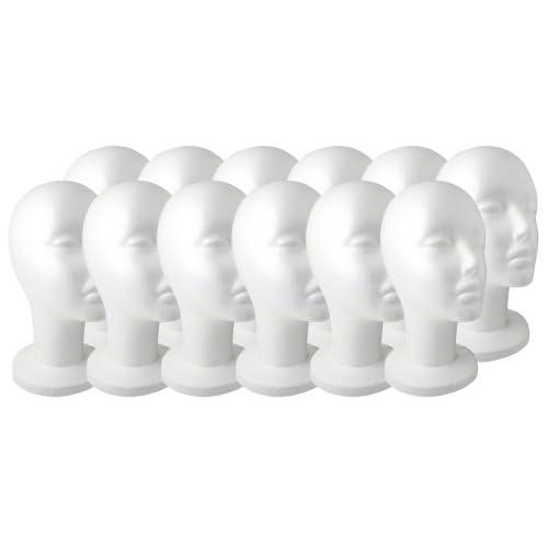 Lot of 12 New Hi Quality 11 FEMALE FOAM STYROFOAM MANNEQUIN HEAD WIG HAT MODEL