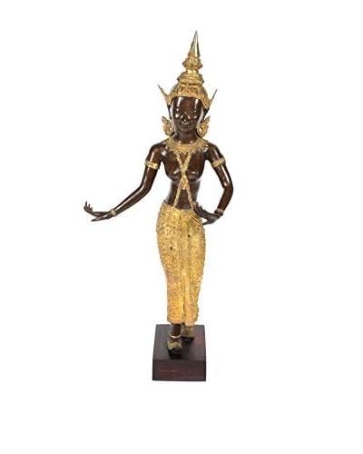 Bronze Thai Goddess, Brown/Gold