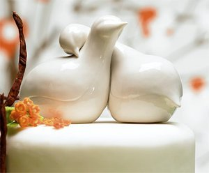 Weddingstar Contemporary Love Birds Cake Topper
