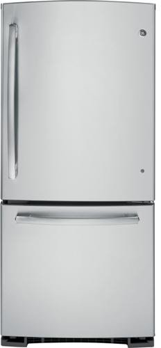 Ge Gde20Gshss 20.3 Cu. Ft. Stainless Steel Bottom Freezer Refrigerator - Energy Star