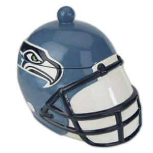 Seattle Seahawks NFL Ceramic Soup Tureen or Cookie Jar (9x8.5) by SC Sports