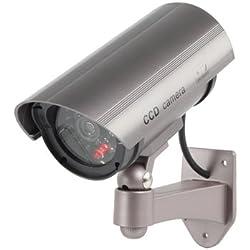 Telecamera da esterno finta dummy cam 30 finti led con lampeggiante IR infrarossi design professionale CCTV MWS