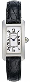 Cartier Tank Americaine 18kt White Gold Ladies Watch W2601956