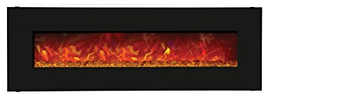 Amantii Advanced Series Wall Mount/Built-in Electric Fireplace with Matte Black Steel Surround, 58-Inch photo