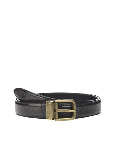 Dolce & Gabbana Cinturón Piel Gris Oscuro