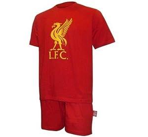 Liverpool Fc Lfc Mens Short Pyjamas (inc. Original Liverbird Badge) - Small