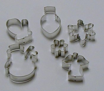 Christmas & Holiday Cookie Cutters - Set of 6