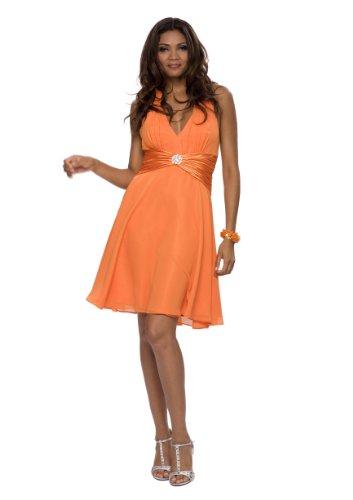 evening dress, cocktail dress, dress, color orange, size 8 astrapahl