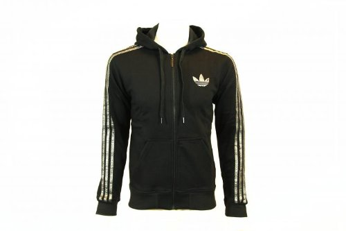Adidas Originals Mens Fleece FZ Zip Up Hooded Sweatshirt Hoody Size M
