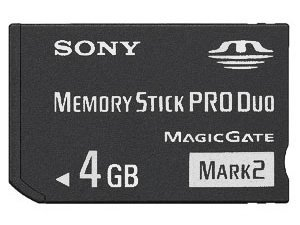4 GB Sony PRO DUO (Mark 2) Memory Stick for PSP