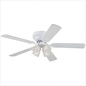 """Bundle-73 52"""" Contempra IV 5 Blade Ceiling Fan (Set of 2) Finish: Brushed Nickel with Rosewood / Maple Blades, Glass Type: Frosted Ribbed Shade"""