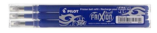 Pilot BLS-FR7-L-S3 Frixion Ball Refill per Penna a Sfera, 0.7 mm, Confezione da 3, Blu