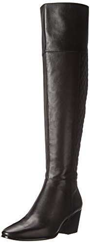 Cole Haan Women's Everly OTK Riding Boot,Quilted Black,5 B US (Boots Quilted Wedge compare prices)