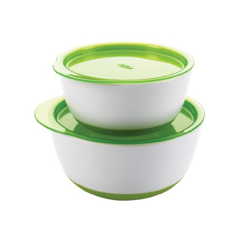 OXO Tot Small & Large Bowl Set with Snap On Lids - Green