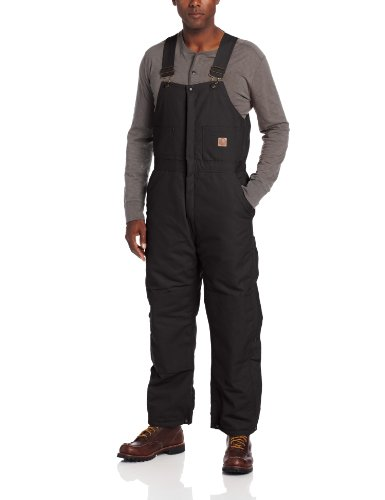 Berne Mens Big-Tall Extra Deluxe Insulated Bib, Black,