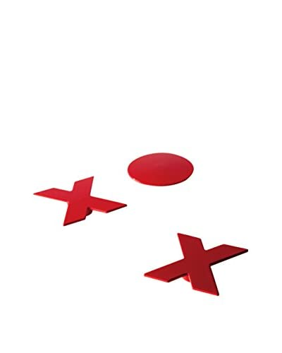 Torre & Tagus Set of 3 Red XO Magnets