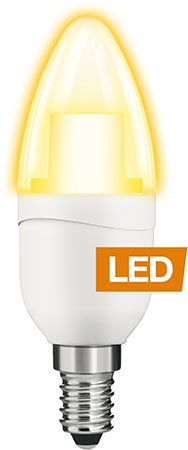 LEDON 6-W-LED-Kerzenlampe E14,