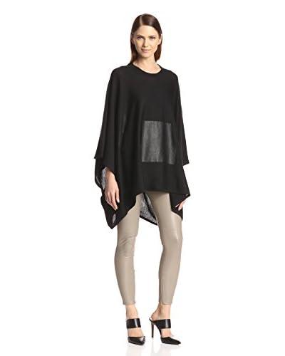 Susana Monaco Women's Margeaux Poncho with Faux Leather Pocket