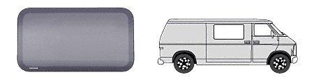 """Fw371 - Crl Fixed """"All Glass Look"""" Window Sliding Door 1978-2001 Dodge Vans 44-15/16"""" X 18-7/8"""""""