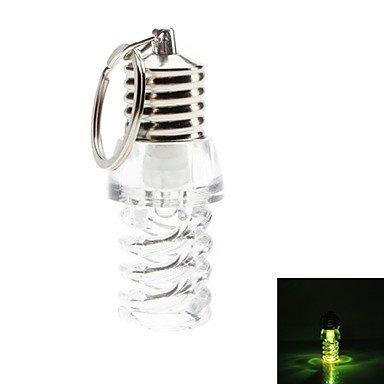 Ty Flicker Shinning Sprial Bulb Shaped Led Flashlight Keychain
