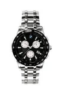 BMW Men's Chronograph. Watch with brushed stainless steel case and anthracite Dial & Stainless Band