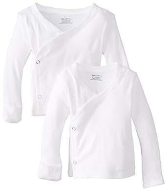 Amazon Com Gerber Unisex Baby Newborn 2 Pack Long Sleeve