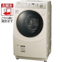 シャープ 9.0kg ドラム式洗濯乾燥機 【左開き】 ゴールド系SHARP ES-V540-NL