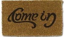 Come-In / Go-Away Ambigram Doormat