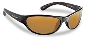 Flying Fisherman Key Largo Polarized Sunglasses (Shiny Tortoise Frame, Amber Lens)