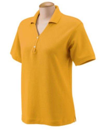 Details for Devon & Jones D100W Women's Pima Pique Short-Sleeve Polo S Sunray Yellow by Devon & Jones