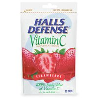 Buy Halls Defense CoughDrops StrawberryBag – 30 Ea X 12bags
