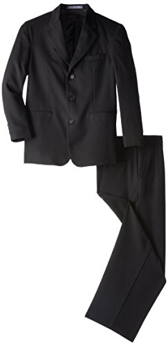 Perry Ellis Big Boys' Husky Suit, Black, 14